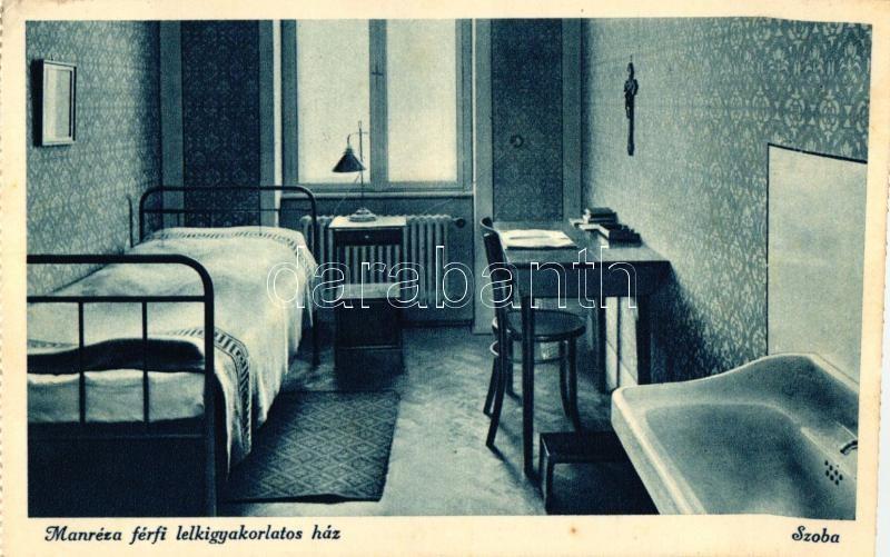 Budapest II. Manréza Lelkigyakorlatos Ház, szoba belső