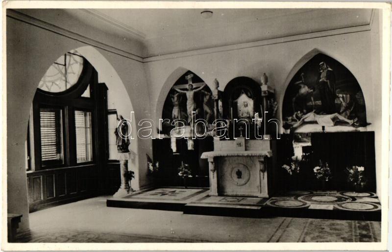 Budapest II. Golgotai kápolna, Szentföldi Ferencrendi zárda, belső; Heinrich István u. 3.