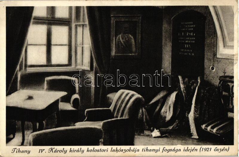 Tihany, IV. Károly király kolostori lakószobája a tihanyi fogsága idején, belső