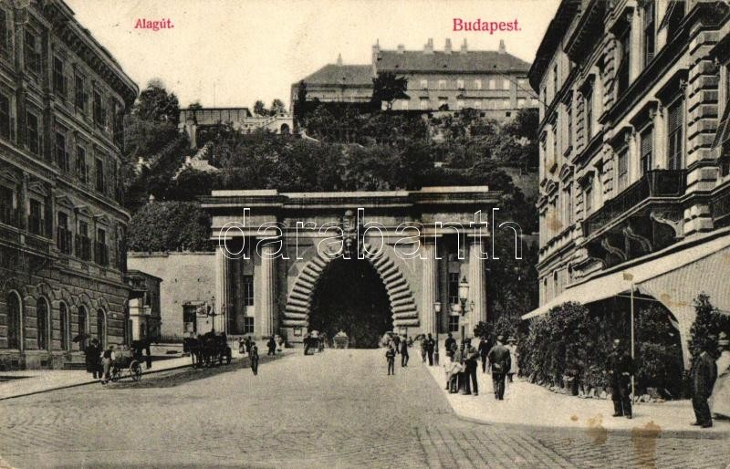 Budapest I. Alagút, kiadja Divald Károly