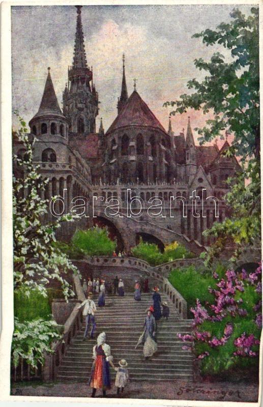 Budapest I. Mátyás templom és Halászbástya, B.K.W.I. 380/24 s: Götzinger