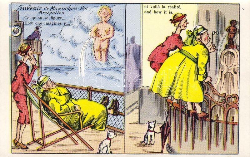 Brussels, Bruxelles; Manneken Pis, humour, No. 25.