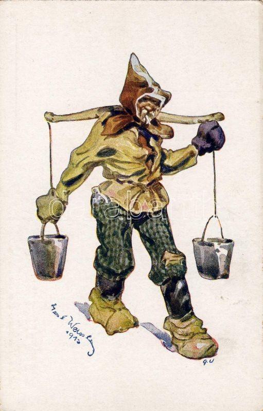 Volhynian folklore, Water carrier s: Emil Weiss, Volhyniai folklór, vízhordó s: Emil Weiss