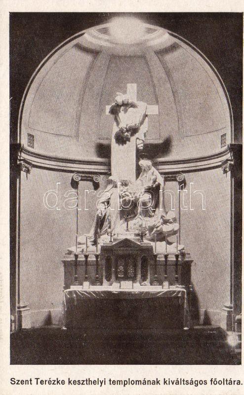 Keszthely, Szent Terézke templomának kiváltságos oltára, belső
