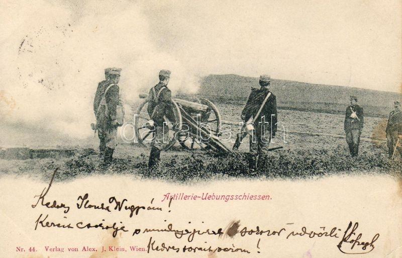 Artillerie-Übungsschiessen / Artillery practice shooting, cannon, Tüzérségi gyakorlati lövészet, ágyú