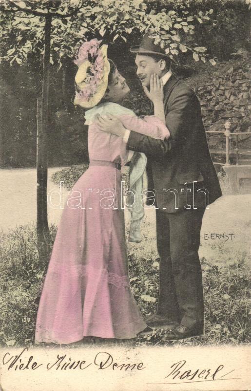 Romantic love couple s: E. Ernst, Romantikus szerelmes pár s: E. Ernst