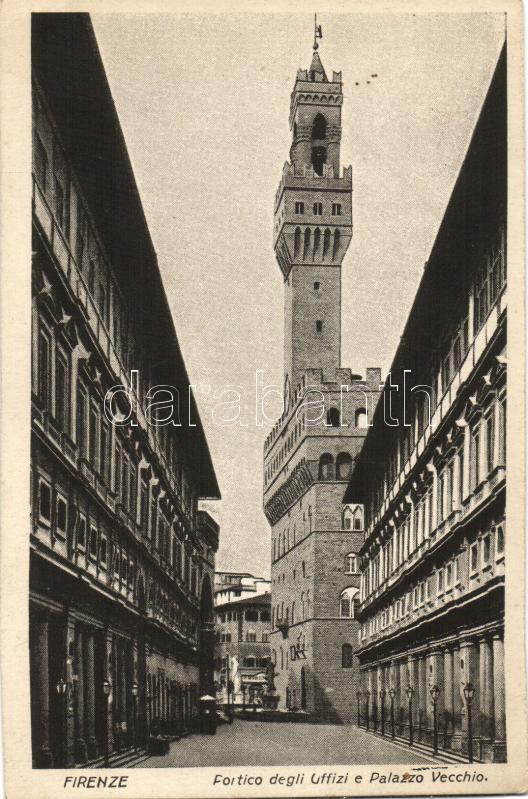 Firenze, Portico degli Uffizi, Palazzo Vecchio / porch, palace