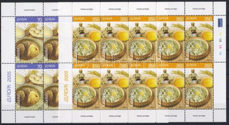 Europe CEPT gastronomy mini sheet set, Europa CEPT gasztronómia kisívsor, Europa CEPT Gastronomie Kleinbogensatz