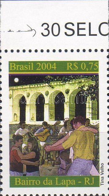 Bairro da Lapa margin stamp, Bairro da Lapa zene ívszéli bélyeg, Bairro da Lapa Marke mit Rand