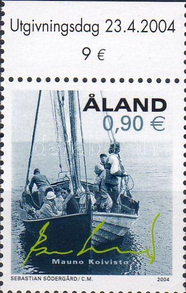 Ship corner stamp, Hajó ívsarki bélyeg, Segelboot Marke mit Rand