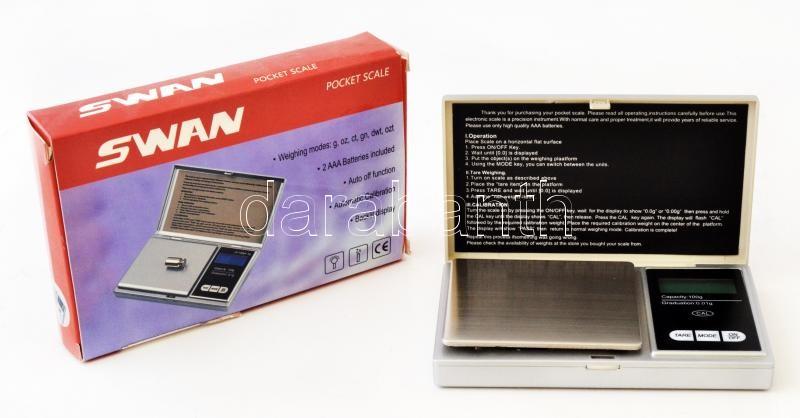 SWAN - Digital pocket scale, SWAN - Digitális mérleg, SWAN - Digitale Waage