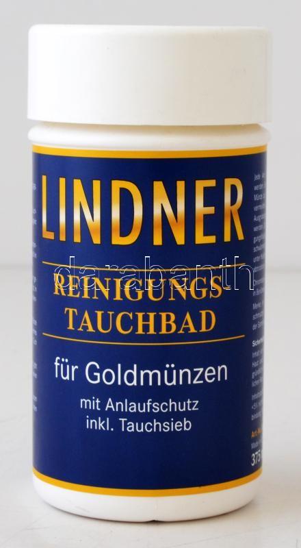 Lindner cleaning dip for gold coins 375ml, Lindner arany tisztító folyadék 375ml 8091, Lindner-Tauchbad für Goldmünzen 375ml
