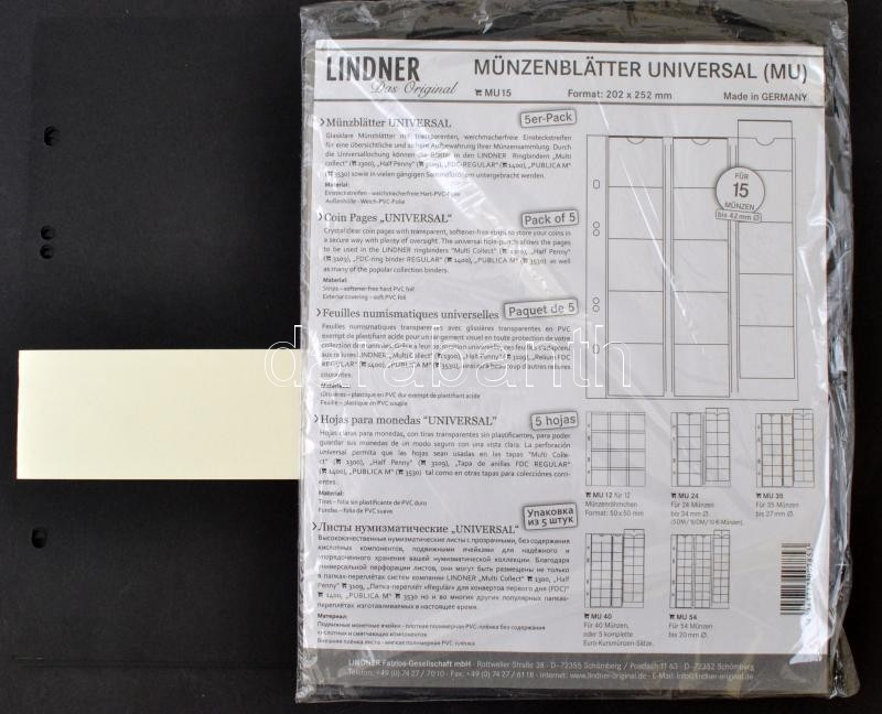 Lindner Coin Pages