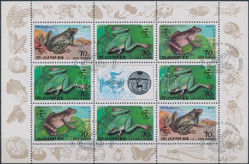 Frogs and toads minisheet, Békák és varangyok kisív, Frösche und Kröten Kleinbogen