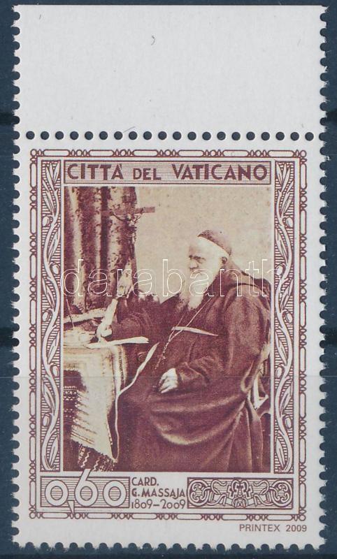 Bicentenary of the birth of cardinal Massaja margin stamp, 200 éve született Massaja bíboros ívszéli bélyeg, 200. Geburtstag von Kardinal Guglielmo Massaja Marke mit Rand