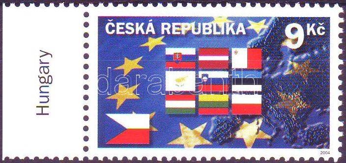 Accession to the European Union margin stamp, Csatlakozás az Európai Unióhoz HUNGARIKA ívszéli bélyeg, Beitritt zur Europäischen Union Marke mit Rand