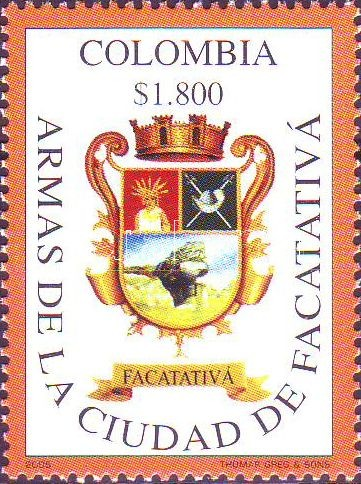 Urban coat of arms margin stamp, Városi címer ívszéli bélyeg, Stadtwappen Marke mit Rand