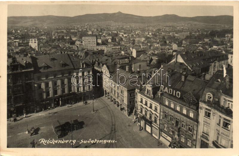Reichenberg, Sudetengau, Radio, shop of G. Roust