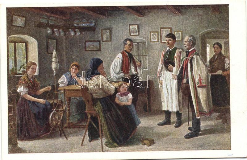 Hungarian folklore s: G. Aggházy Leánykérőben, magyar folklór s: G. Aggházy