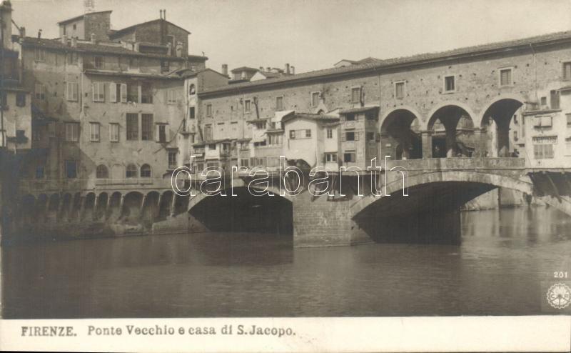 Firenze, Ponte Vecchio e casa di S. Jacopo / bridge