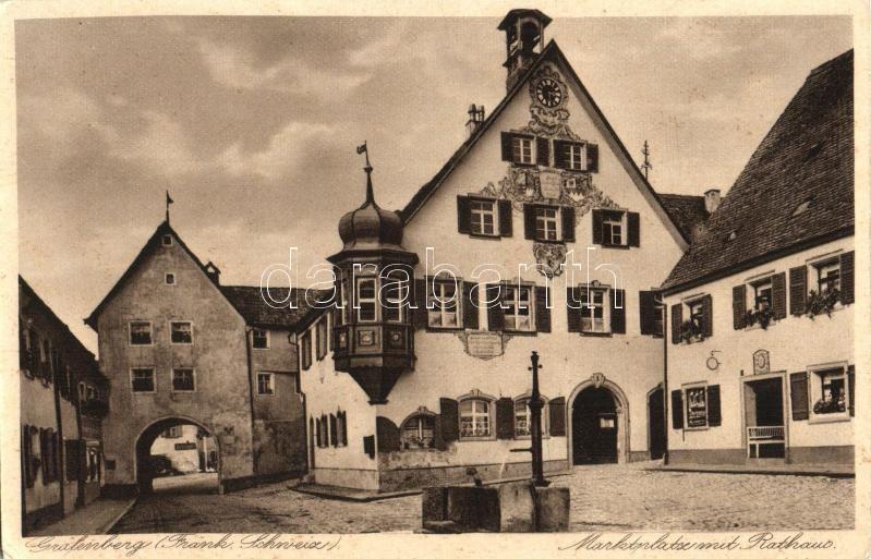 Gräfenberg, Marktplatz, Rathaus / market square, town hall