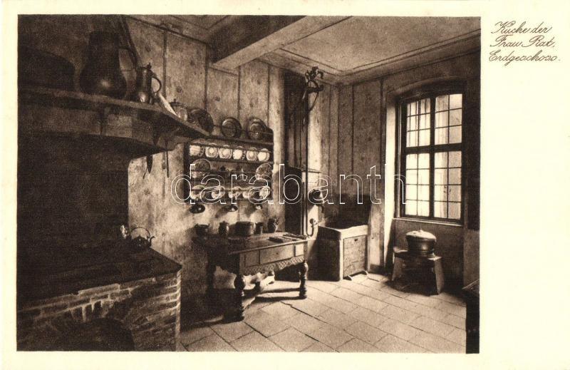Frankfurt am Main, Goethehause, Erdgeschloss, Kuche der Drau Rat/ kitchen room interior