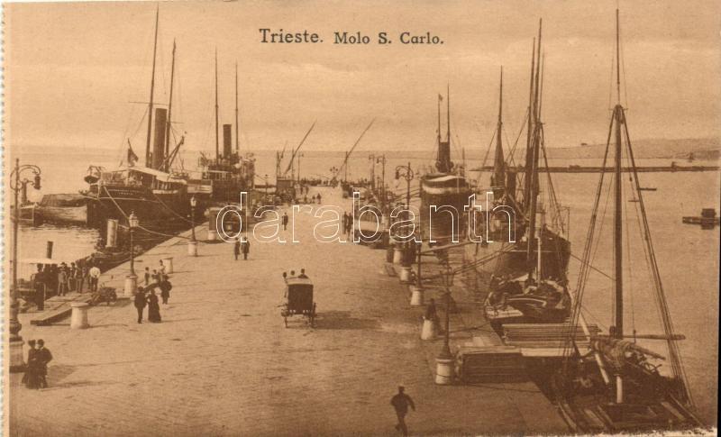 Trieste, Molo S. Carlo, steamships