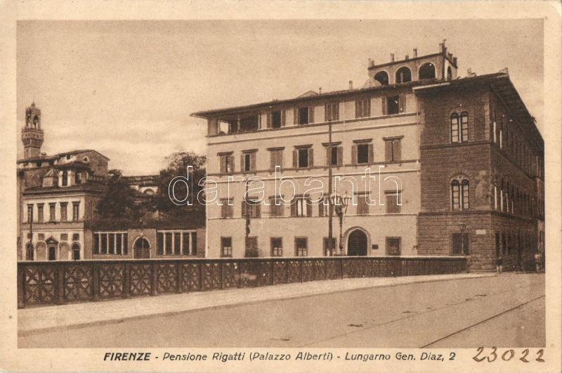 Firenze, Pensione Rigatti, Palazzo Alberti