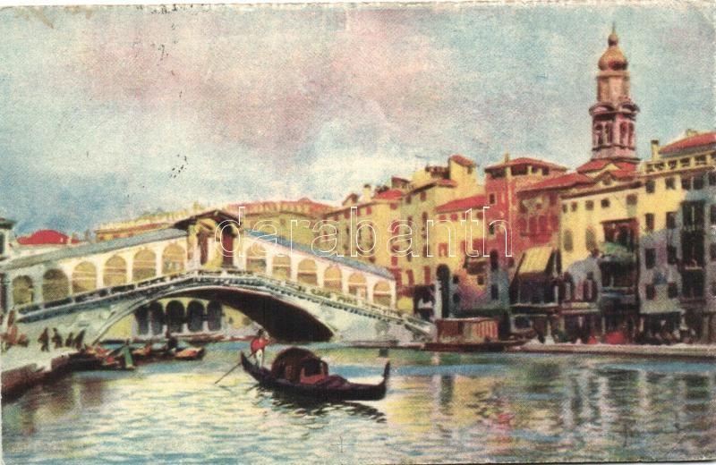 Venice, Venezia; Ponte di Rialto / bridge, A. Scrocchi 4338-9.