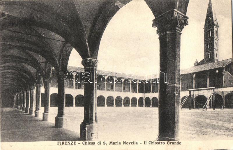 Firenze, Florence; Chiesa di S. Maria Novella, Chiostro Grande / church, cloister