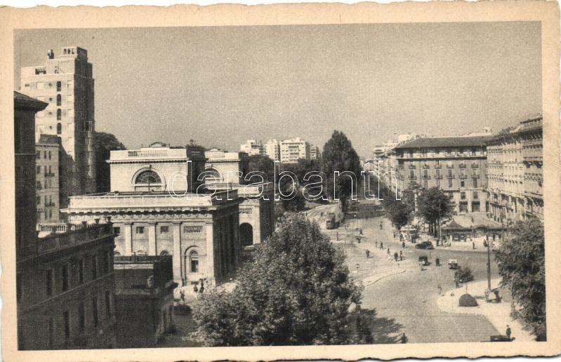 Milan, Milano; Porta Venezia, Piazzale Oberdan, Viale Vitt. Veneto / gate, square, street
