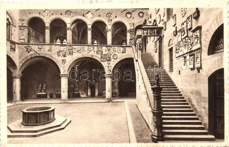 Firenze, Courtyard and stairs of the Palace of the Podesta