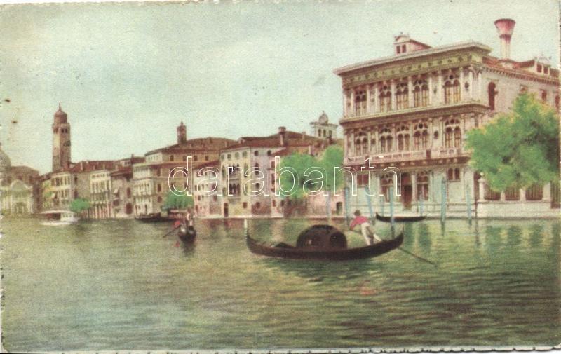 Venice, Venezia; Canal Grande, Palazzo Vendramin / palace, A. Scrocchi 4338-23.