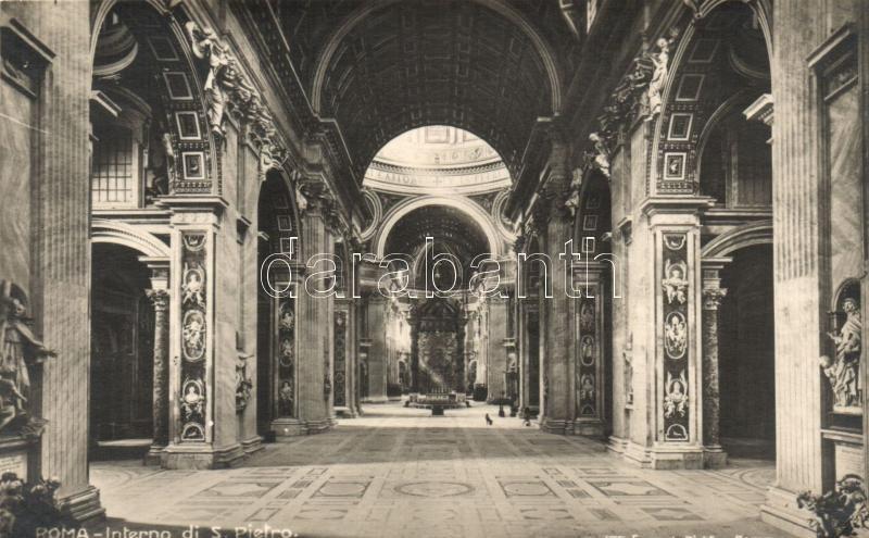 Rome, Roma; S. Pietro church, interior