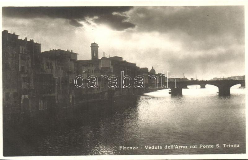 Firenze, Arno col Ponte S. Trinita / bridge