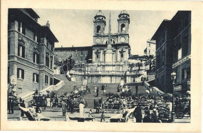 Rome, Roma; Piazza di Spagna / square, office of Hamburg-America Linie