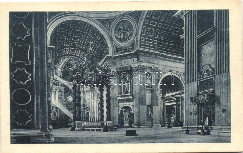 Rome, Roma; San Pietro Basilica, interior