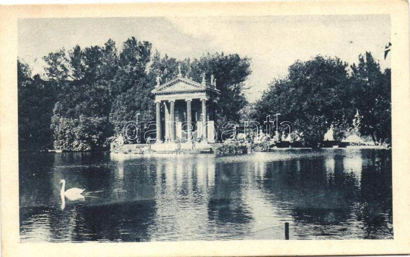 Rome, Roma; Villa Umberto, Tempio di Esculapio / villa, temple