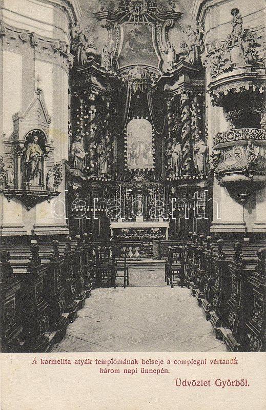 Győr, Karmelita atyák temploma, belső, Compiegni vértanúk ünnepe