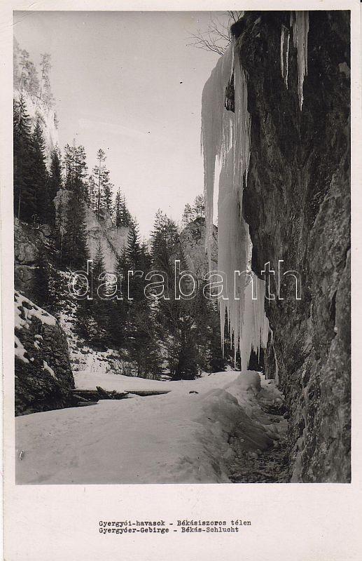 Muntii Giurgeu, Bicaz Canyon in wintertime, Gyergyói havasok, Békásiszoros télen
