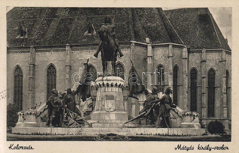Kolozsvár, Mátyás király szobor, Cluj-Napoca, statue of Matthias Corvinus