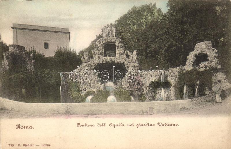 Rome, Roma; Elquila fountain, Vatican garden