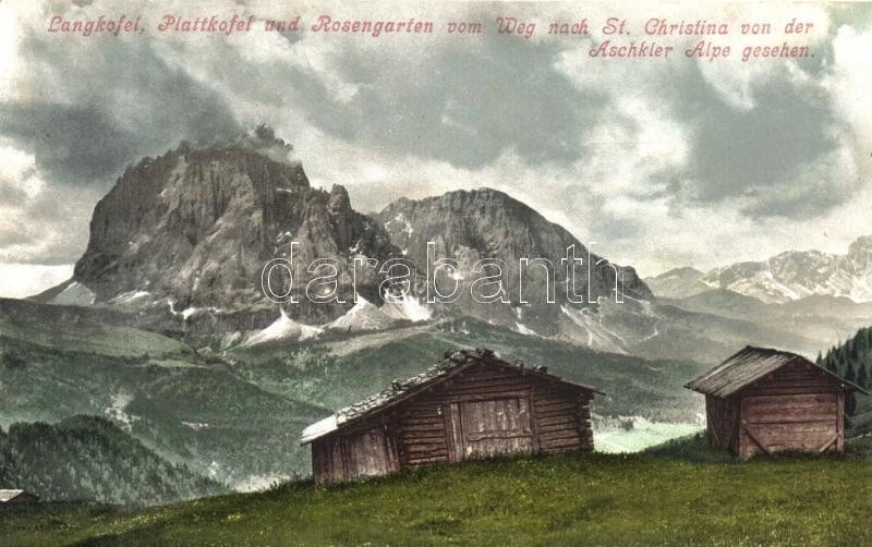 Langkofel, Plattkofel, Rosengarten, Aschkler Alpe