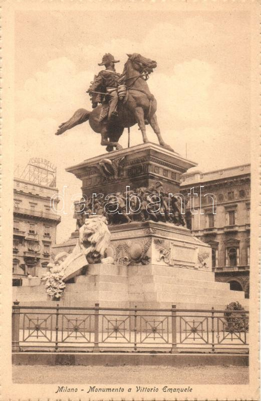Milan, Milano; Monumento a Vittorio Emanuele / monument