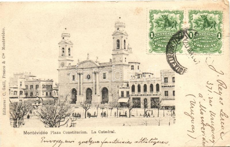Montevideo, Plaza Constitucion, Catedral / square, cathedral