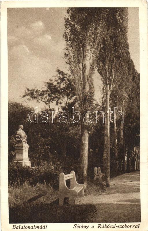 Balatonalmádi, Sétány, Rákóczi szobor