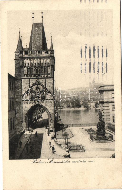 Prague, Prag, Praha; Staromestska mostecka vez / Old Town Bridge Tower