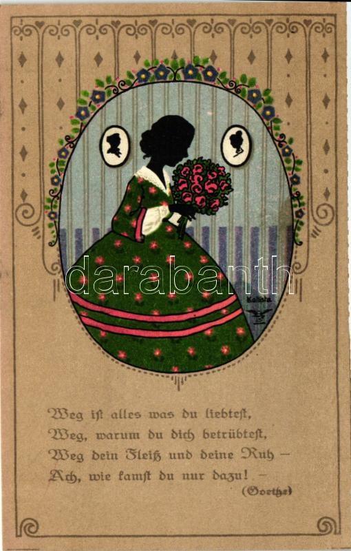 Silhouette, No. 1087. litho s: Kallista