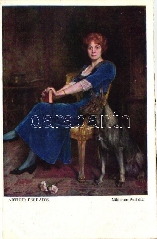 Madchen-Portrait, galerie Wiener Künstler Nr. 466.  s: Arthur Ferraris