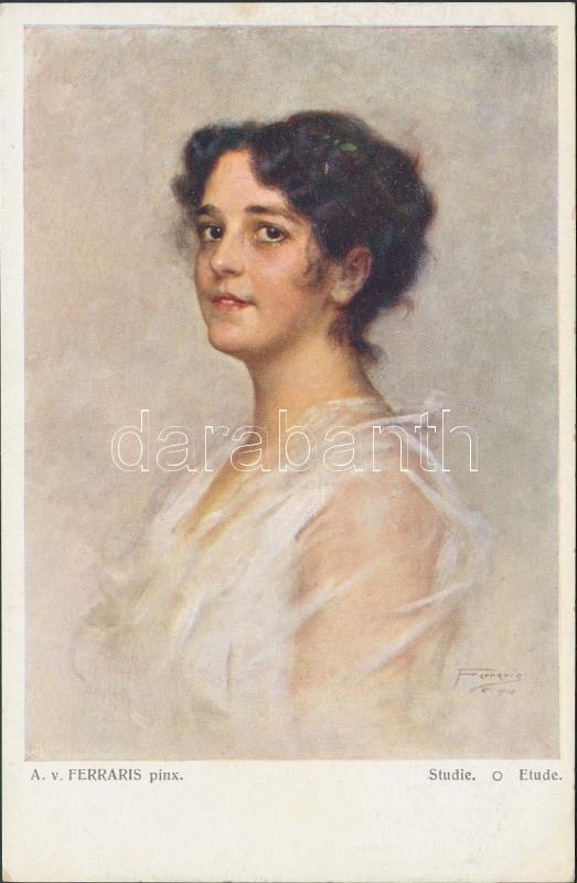 Studie, Etude, Galerie Wiener Küstler No. 195. Salon Viennois No. 195. s: A. v. Ferraris